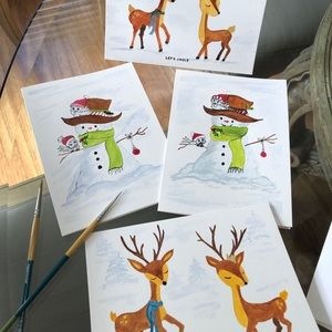 Individually hand painted cards